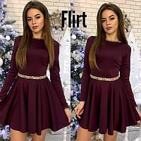 Праздничное приталенное платье-клёш декор камни стразы лучшая цена от производителя для девушек S-M