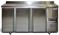 Холодильный стол на 3 двери нерж.сталь