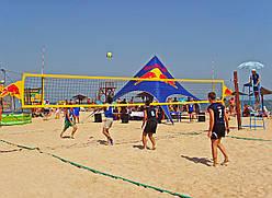 Сетка для пляжного волейбола с тросом D-2,5 мм, ячея 100*100 мм