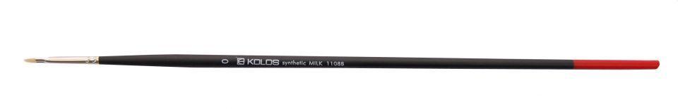 Синтетика, плоская кисть, Milk 1108B, №0, д.р. KOLOS