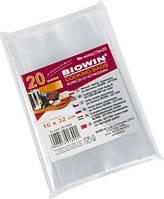 Пакеты для ветчинницы, набор из 20 штук, термостойкий пищевой полиэтилен 0,04мм, безвредный, размеры 32*16 см