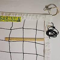 Сетка для волейбола «ПРЕМИУМ 10 НОРМА» с тросом черно-белая, фото 1