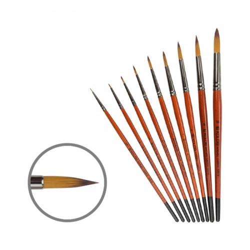 Синтетика, круглая кисть, Carrot 1097R, №8, к.р. KOLOS
