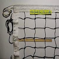 Сетка для волейбола «ЭЛИТ 10 НОРМА» с тросом черно-белая