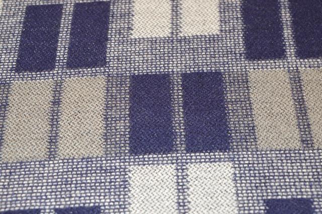 Кашемировая ткань в синих цветах шарф теплый 91016 4