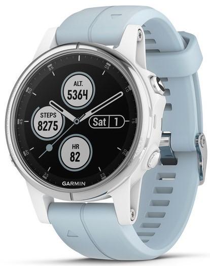 Смарт-годинник Garmin fenix 5S Plus White with Sea Foam Band
