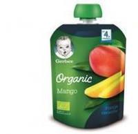 """Пюре пауч  """"Organic Манго"""" 90гр.Gerber  с 4 мес."""