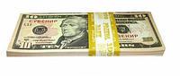 Сувенирные деньги 10 долларов. Пачка долларов 80 шт.