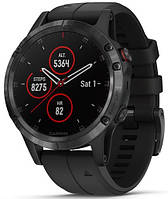 Смарт-годинник Garmin fenix 5 Plus Sapphire, Black with Black Band