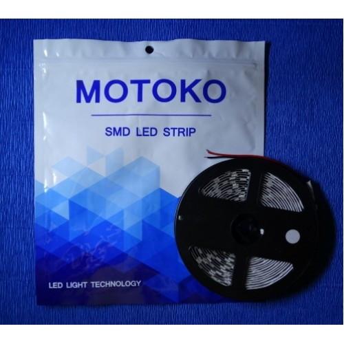 Светодиодная лента MOTOKO LED 5050-60 IP33 теплый белый, негерметичная, 1м