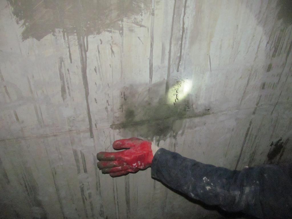 Герметизация отверстий после опалубки в подсилосных галереях и норийных приямках
