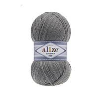 Пряжа Alize Lanagold 800 - 21 серый меланж (Ализе Лана голд 800)