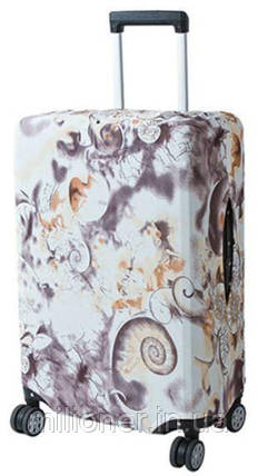 Чехол для чемодана Bonro средний L коричневый узор, фото 2