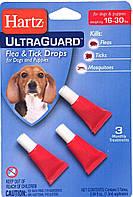 Hartz UltraGuard 3 в 1 Капли для небольших собак от блох и клещей от 7 до 14 кг