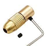 Патрон цанговый на вал 4.05 мм. зажим 0.5 мм. - 3.2 мм. + 10 цанг + ключ. Для  мини дрели, фото 3