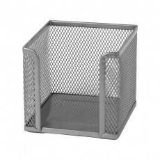 Куб для бумаги 100х100x100мм, мет, серебр.