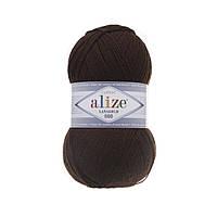 Пряжа Alize Lanagold 800 - 26 коричневый (Ализе Лана голд 800)