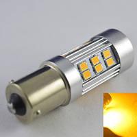 Светодиодная лампа SLP LED в сигнал указателя поворота с цоколем 1156(PY21W)(BAU15S) 27-2835 SMD Желтый