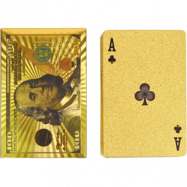 Карты «Доллар» , золото, 54 карты