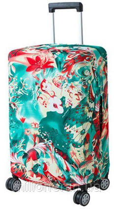 Чехол для чемодана Bonro средний цветы (12052406) L, фото 2