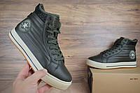 Мужские зимние кроссовки 41, 44 размер Converse высокие зеленые Реплика