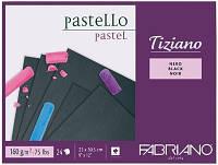 Склейка для пастели Tiziano A4 (23х30,5см), 160г/м2, 24л, черный, Fabriano