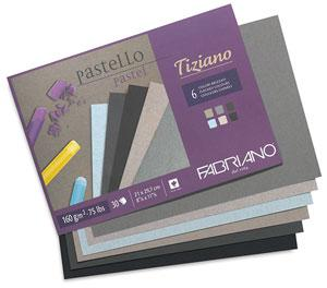 Склейка для пастели Tiziano A4 (21х29,7см), 160г/м2, 30л, холодные цвета, Fabriano