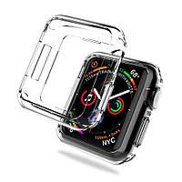 Прозрачный  чехол для Apple Watch 44mm Series 4  TPU Silicol