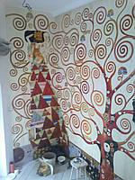 Стильная художественная роспись стен. Киев