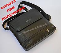 Мужская кожаная фирменная, брендовая сумка Jeep, фото 1