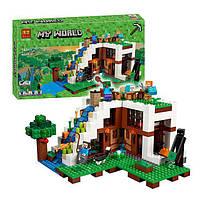"Детский Конструктор Bela Minecraft 10624(аналог Lego Майнкрафт, Minecraft 21134) ""База на водопаде, фото 1"