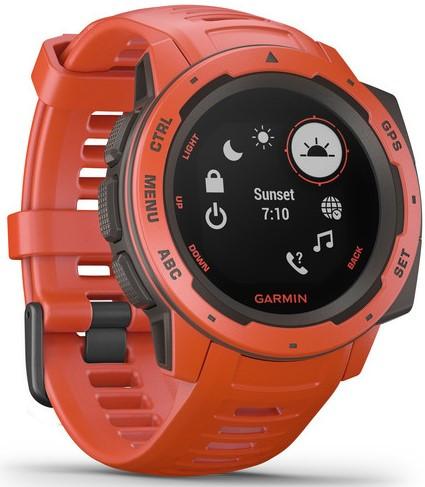 Смарт-годинник Garmin Instinct Flame Red