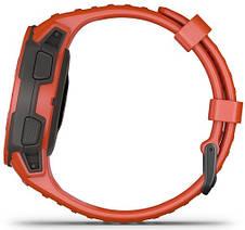 Смарт-годинник Garmin Instinct Flame Red, фото 2