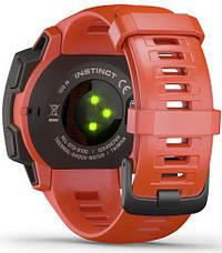Смарт-годинник Garmin Instinct Flame Red, фото 3