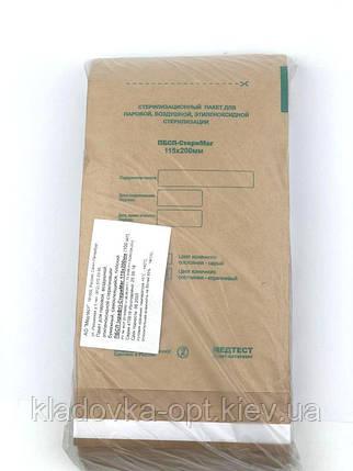 """Крафт-пакети для стерилізації """"МЕДТЕСТ"""" 115х200 мм з індикатором, 100шт., фото 2"""