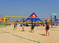 Сетка для пляжного волейбола с тросом D-4,5 мм, ячея 100*100 мм
