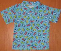 Летняя детская рубашка на мальчика. Размер: 32-34