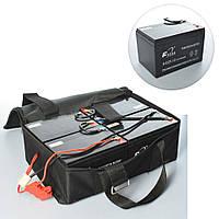 Комплект тяговых аккумуляторов 6dzm12 12v/12a в ящике для детского электро квадроцикла