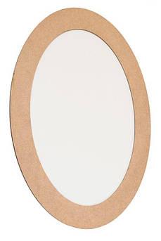 Холст на картоне овальный, 20*30 см, в багетной раме, 5см, МДФ, ROSA Studio