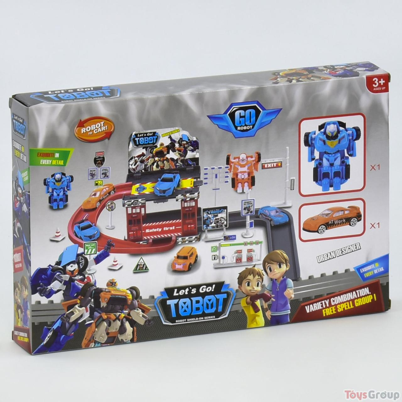 """Гараж 8613 """"ТОБОТ"""" (60) 1 трансформер + 1 машинка, в коробке"""