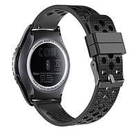 Спортивный ремешок с перфорацией для часов Samsung Gear S2 Classic  SM-R732 / RM-735 - Black