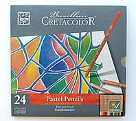 Набор пастельных карандашей, Fine Art Pastel, 24 шт., мет. коробка, Cretacolor