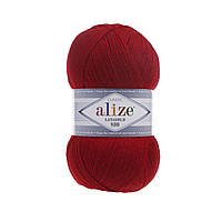 Пряжа Alize Lanagold 800 - 56 красный (Ализе Лана голд 800)