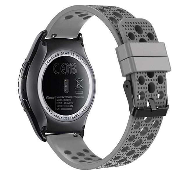 Спортивный ремешок с перфорацией Primo для часов Samsung Gear S2 Classic SM-R732 / RM-735 - Grey