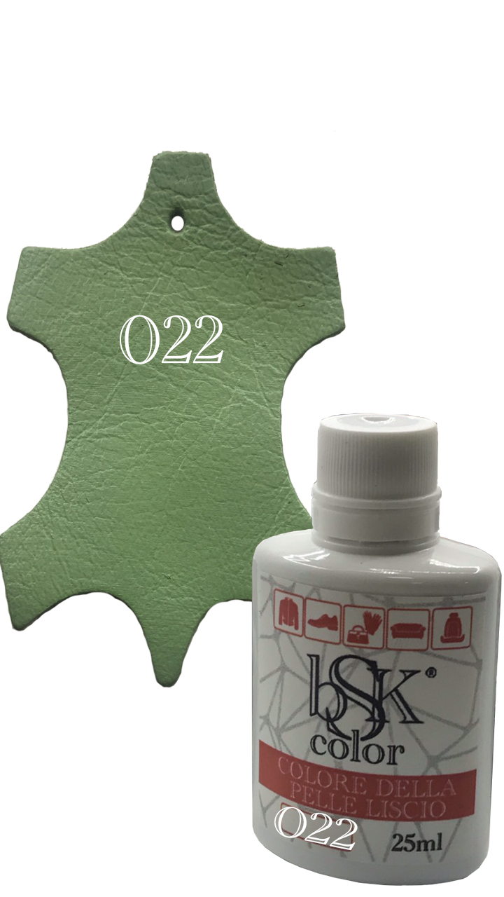 Краска для гладкой кожи пастельно-зеленая Bsk color №022 25 мл