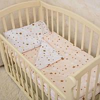 """Комплект постельного белья """"Маленькі зірочки"""" Поплин, фото 1"""