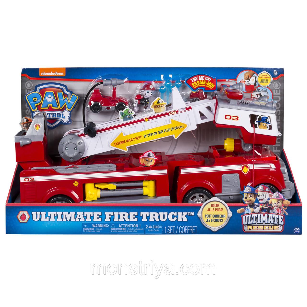Огромная пожарная машина Щенячий патруль со звуком и светом/ Paw Patrol Оригинал