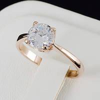 Блестящее кольцо с кристаллами Swarovski, покрытое слоями золота 0142