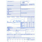 Товарно-транспортная накладная ТТН международная (Форма CMR) А4 100л. без нумерации