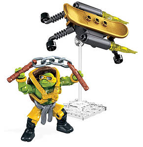 "Конструктор Микеланджело ""Супер трюки"", 34 дет. - Michelangelo, Turbo Board, TMNT, Mega Bloks"